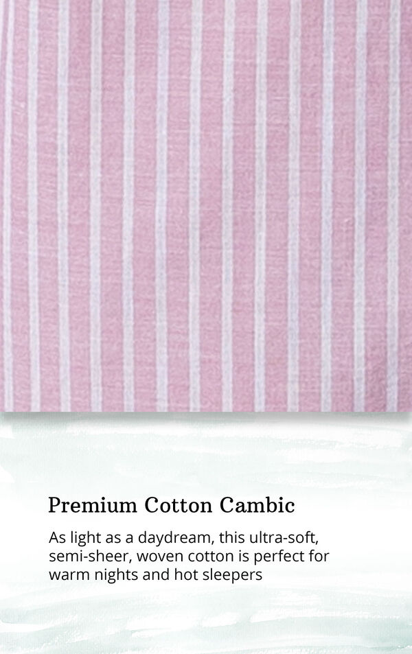Mauve and White Stripe PJ for Women image number 4