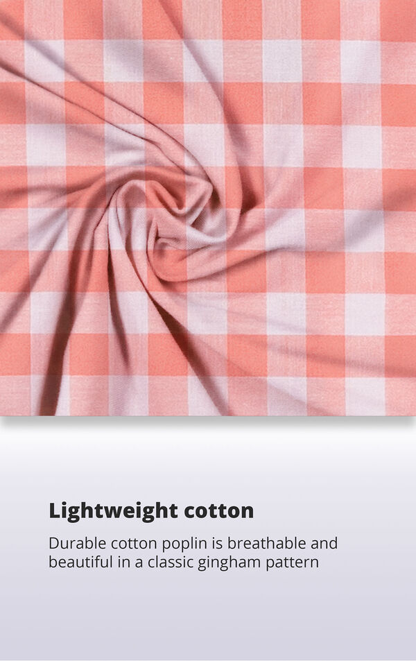 Coral Gingham Button-Front PJ for Women image number 5