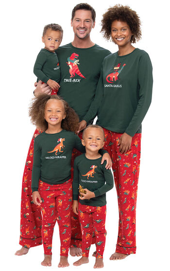 Santasaurus Matching Family Pajamas