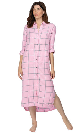World's Softest Flannel Sleepshirt - Pink