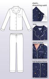 Elastic, drawstring waist, Trim, Chest Pocket, Full button-front image number 5