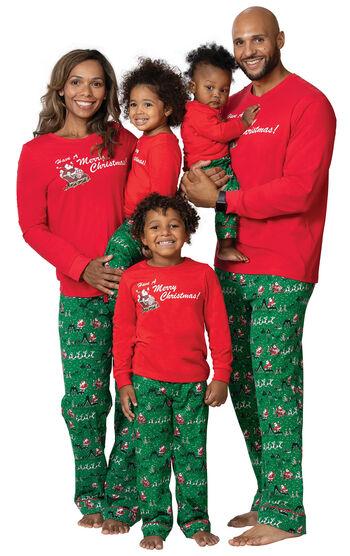 Santa's Sleigh Matching Family Pajamas