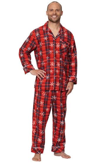 Americana Plaid Snowflake Men's Pajamas