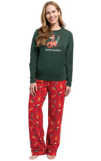 Santasaurus Women's Pajamas