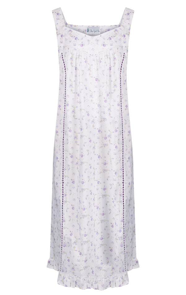 Model wearing Nancy Nightgown in Lilac Rose for Women image number 3