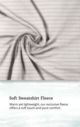 Gray Stripe Sleepshirt with Hood for Women image number 4