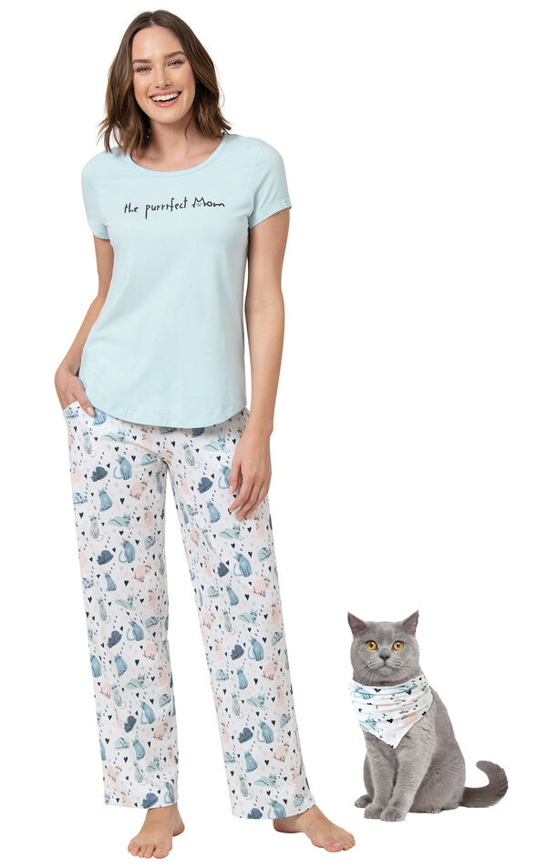 The Purrrfect Mom Matching Pet & Owner PJs image number 0