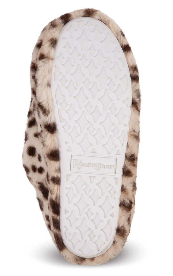 Leopard Print Fuzzy Wuzzies slippers non-skid soles image number 2