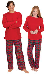 Stewart Plaid Flannel His & Hers Matching Pajamas image number 0
