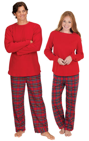 Stewart Plaid Flannel His & Hers Matching Pajamas