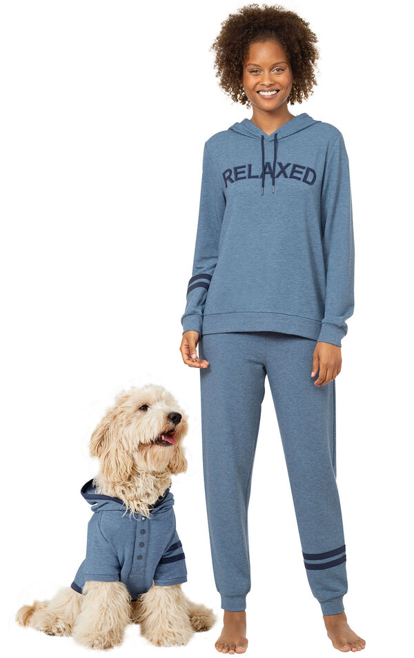 Relaxed & Cuddle Buddy Hoodie Matching Pet & Owner PJs image number 0