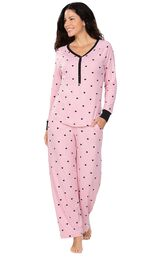 Addison Meadow Whisper Knit Pajamas Henley PJs image number 0