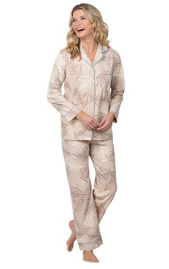 Margaritaville® Palm Frond Boyfriend Pajamas - Sand