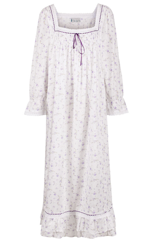 Model wearing Martha Nightgown in Lilac Rose for Women image number 2