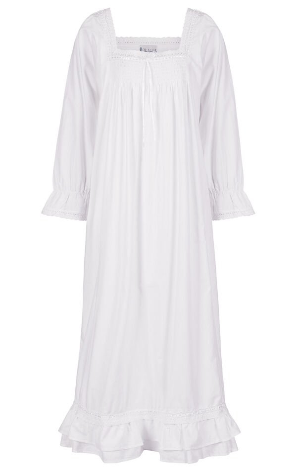 Model wearing Martha Nightgown in White for Women image number 5