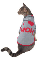 Model wearing Gray Hoodie PJ for Cats