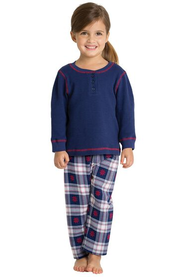 Snowfall Plaid Toddler Pajamas