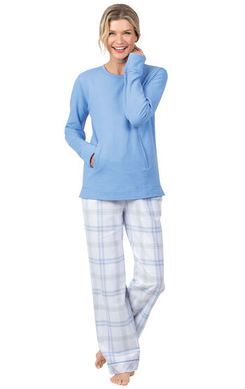 Addison Meadow Frosted Flannel Pajamas - Blue Plaid
