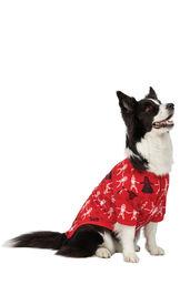 Model wearing Red Star Wars PJ - Pet