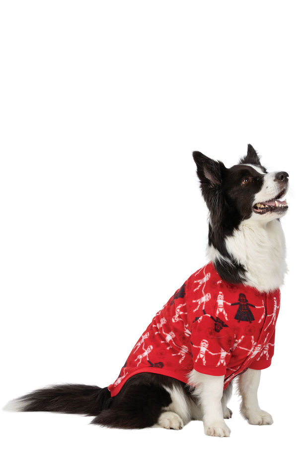Model wearing Red Star Wars PJ - Pet image number 0