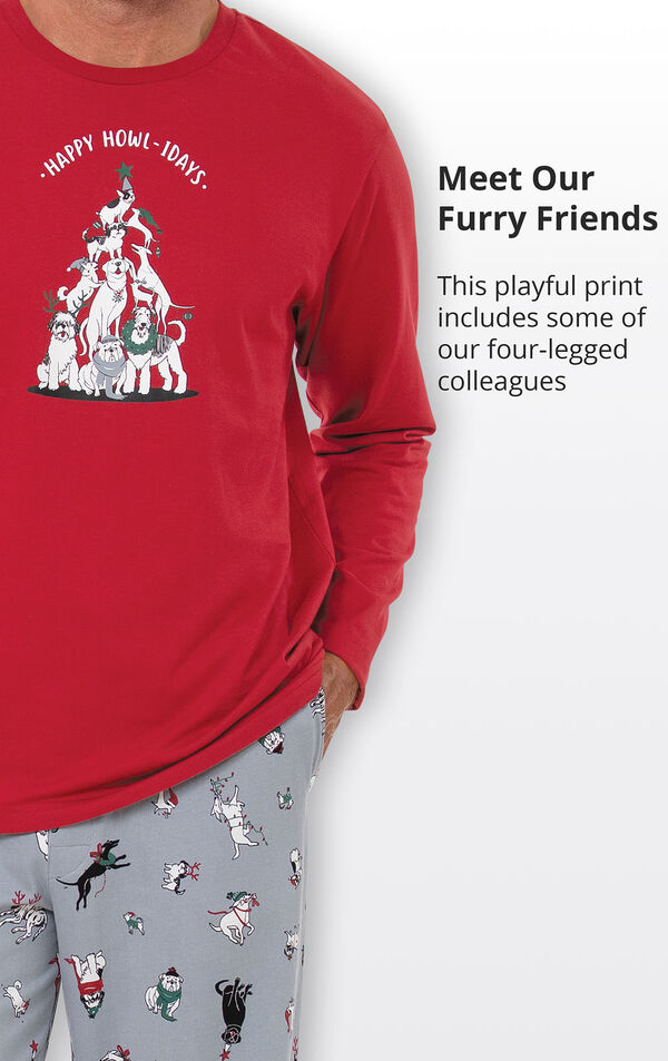 Happy Howlidays Men's Pajamas image number 3