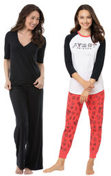 Friends PJs and Black Naturally Nude PJs