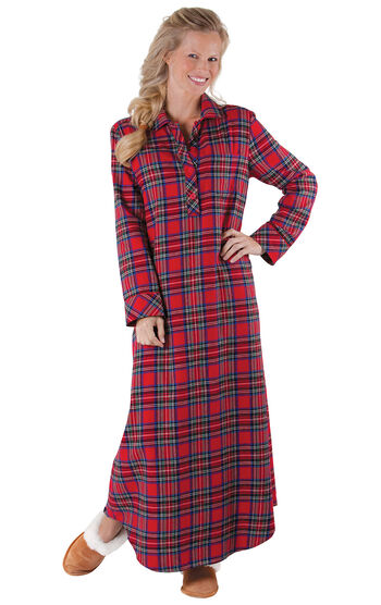 Stewart Plaid Flannel Nighty