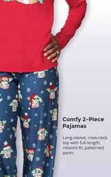 Baby Yoda Women's Pajamas image number 4