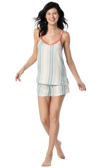 Margaritaville® Cabana Striped Short Set - Blue/White