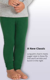 Long-john charm meets jogger style in these PJs that won't wrinkle and bunch in the night image number 4