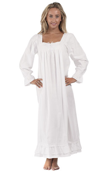 Martha Nightgown - White