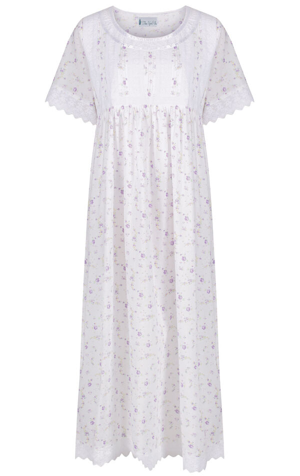 Model wearing Helena Nightgown in Lilac Rose for Women image number 2