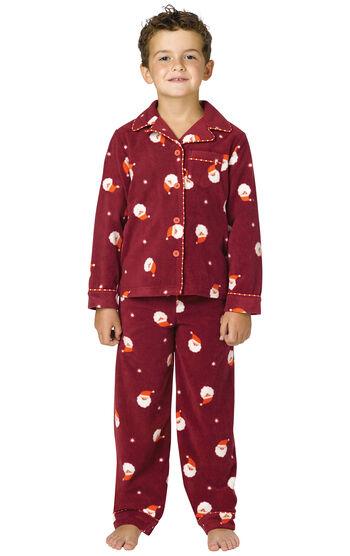 Santa Fleece Boys Pajamas