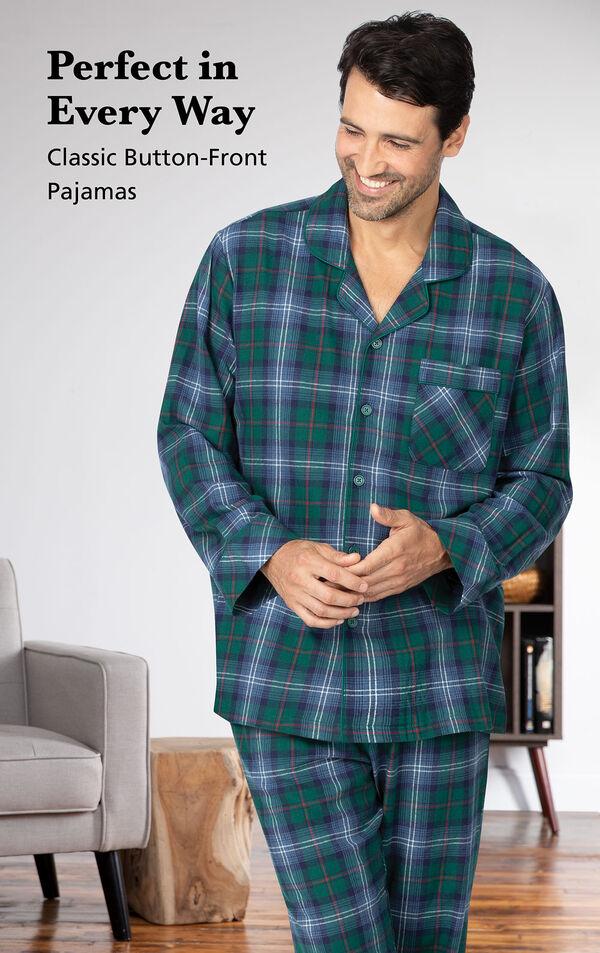 Heritage Plaid Flannel Men's Pajamas image number 2