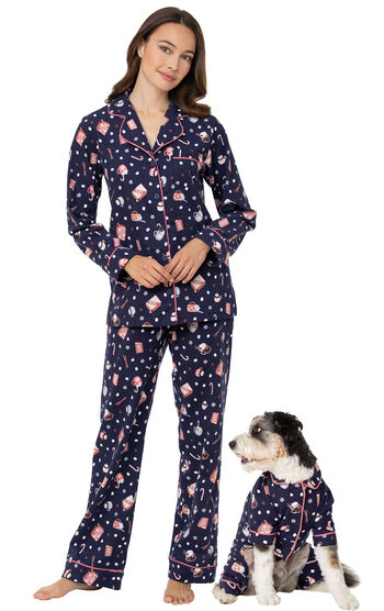 Mugs & Kisses Boyfriend Flannel Pet & Owner Pajamas