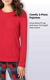 Yuletide Plaid Matching Family Pajamas image number 2