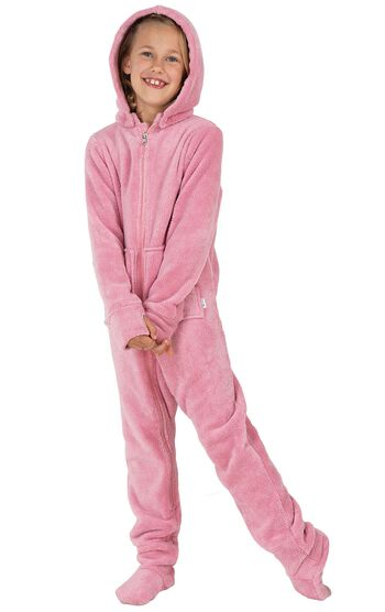 Hoodie-Footie™ for Girls - Pink