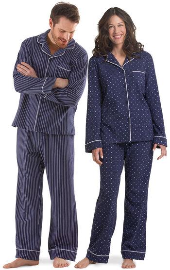 Dots-n-Stripes His & Hers Matching Pajamas