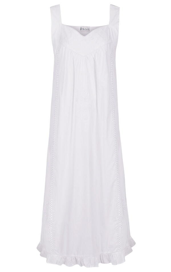 Model wearing Nancy Nightgown in White for Women image number 4