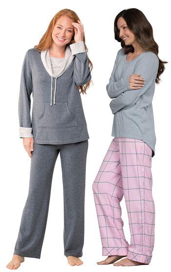 Pink World's Softest Flannel Pajama Set & Charcoal World's Softest Pajamas