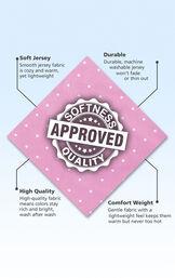 Button-Front Girls Pajamas - Lavender Polka Dot image number 4