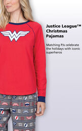 Justice League Christmas Pajamas - Matching PJs celebrate the holidays with iconic superheroes image number 2