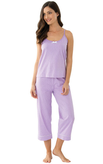 Classic Polka-Dot Capri Pajamas - Lavender