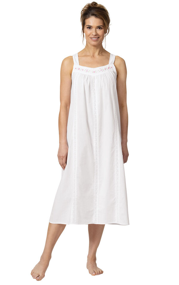 Model wearing Meghan Nightgown  in White for Women image number 0