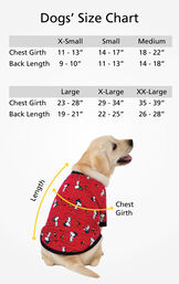 "Dog Sizes XS (Chest Girth 11-13""/Back Length 9-10""), SM (Chest Girth 14-17""/Back Length 11-13""), MD (Chest Girth 18-22""/Back Length 14-18""), LG (Chest 23-28""/Back Length 19-21""), XL (Chest 29-34""/Back Length 22-25""), XL (Chest 35-39""/Back Length 26-28"") image number 4"