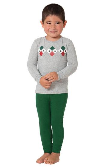 Holiday Argyle Toddler Pajamas