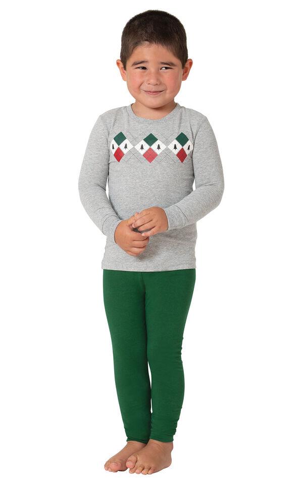 Holiday Argyle Toddler Pajamas image number 0