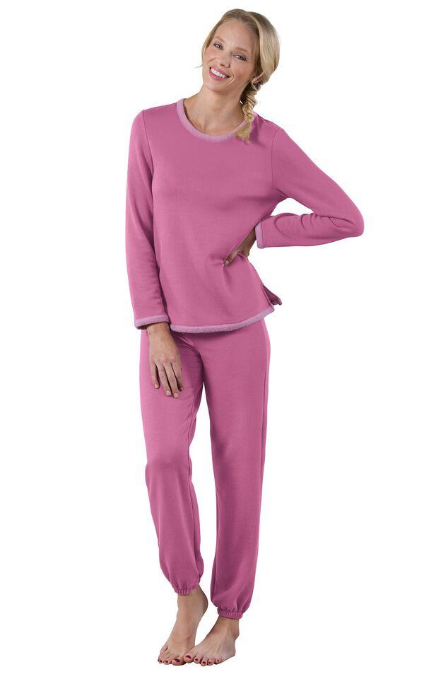 Model wearing World's Softest Pink PJ for Women image number 0