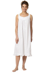Model wearing Nancy Nightgown in White for Women image number 1