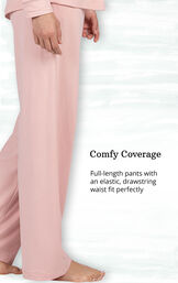 Comfy Coverage - full-length pants with an elastic-drawstring waist fit perfectly image number 3